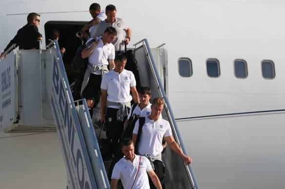 England arrive Rio