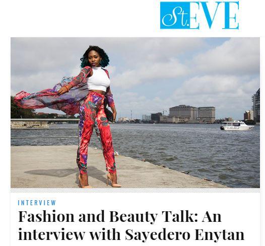 ST EVE INTERVIEW SAYEDERO ENYTAN