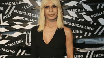 Donatella Versace in Versus by Anthony Vacarello