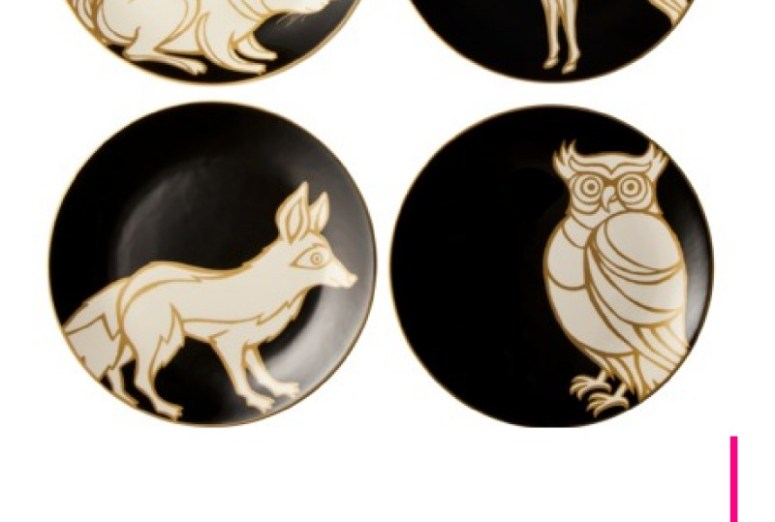Patch Animal Print Dessert Plates