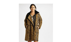 fuzzi leopard plus size coat at salon z