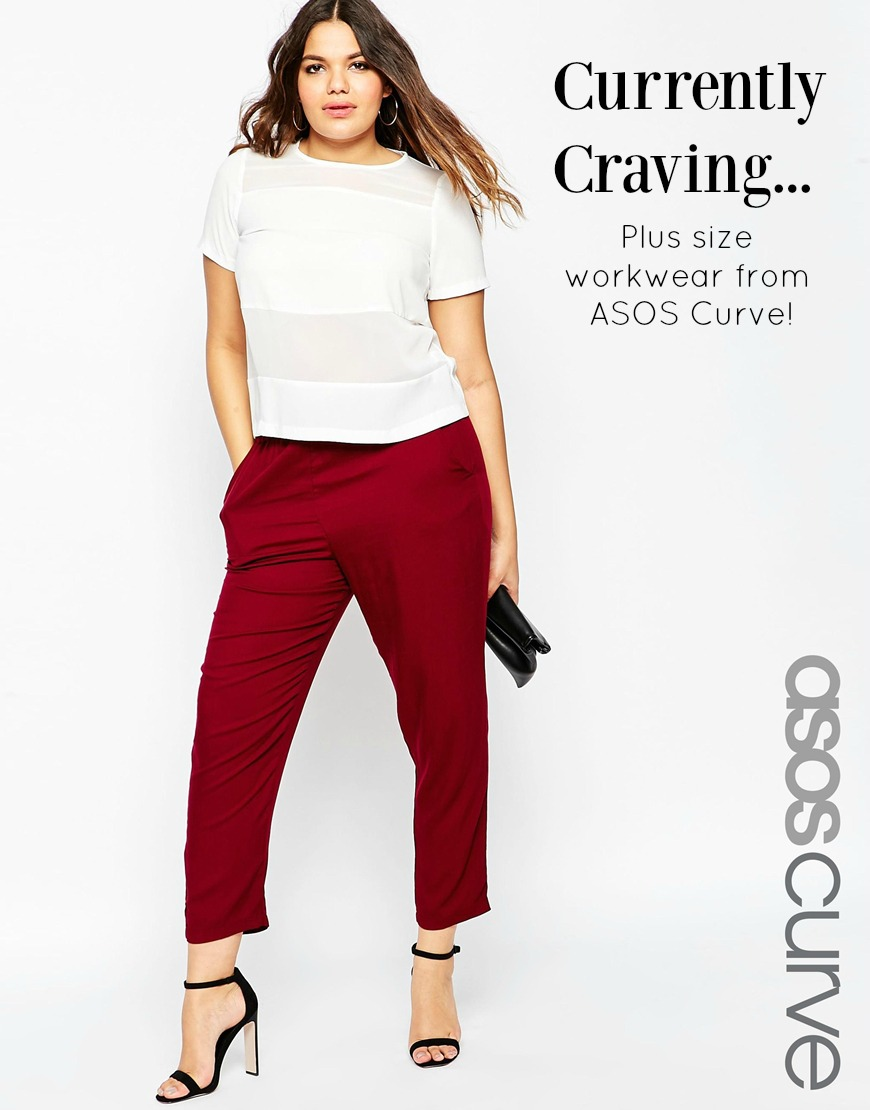 ASOS Curve Plus Size Work Pants