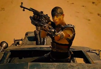 "Charlize Theron stars as Furiosa in ""Mad Max: Fury Road,"" a 2015 Warner Brothers release and director George Miller's long-awaited continuation of the ""Mad Max"" film series."