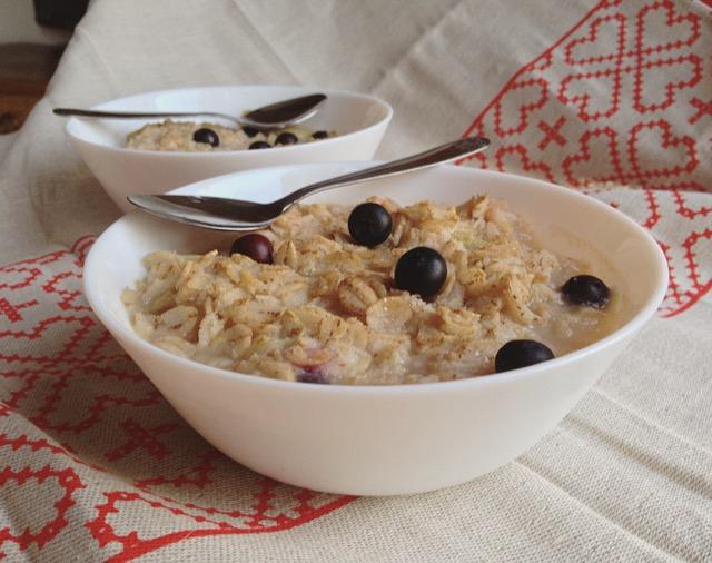 porridge seigle rhubarbe myrtille