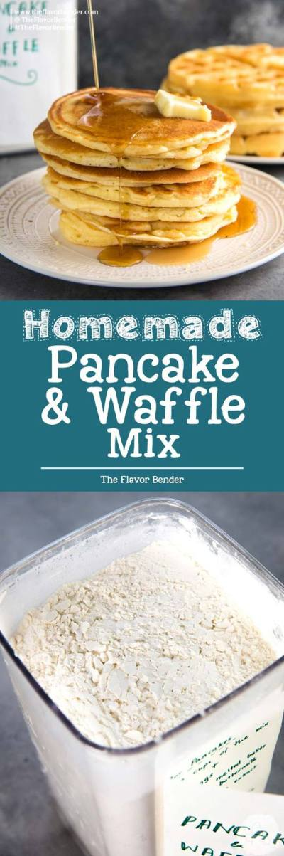 Homemade Pancake Mix or Homemade Waffle Mix | The Flavor Bender