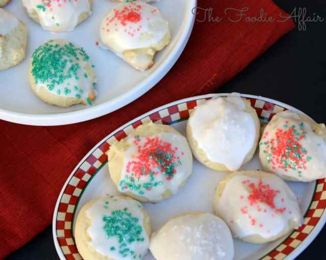 Soft Italian-Style Ricotta Cheese Holiday Cookies will melt in your mouth! The Foodie Affair
