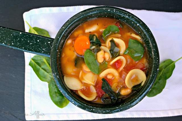 Spinach and White Bean Soup - The Foodie Affair