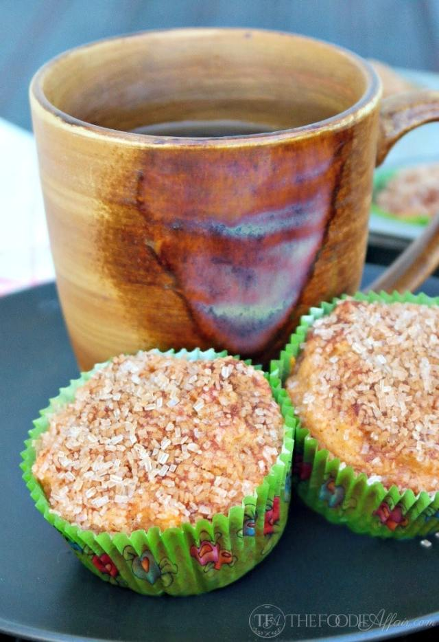 Cinnamon-Crunch Sweet Potato Muffins - The Foodie Affair
