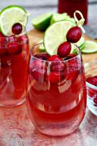 Samsung Holiday Spritzer, Cranberry and lime is tasty and festive cocktail is perfect for entertaining! The Foodie Affair