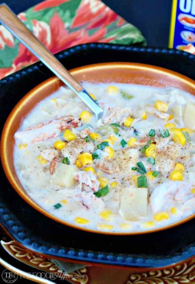 30 Minute Corn and Crab Chowder