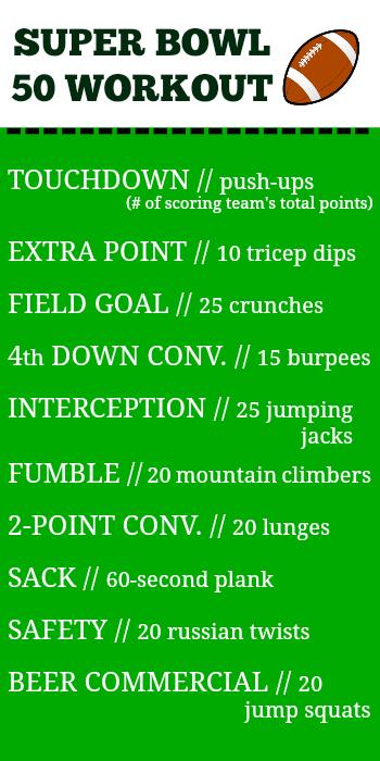 super bowl 50 workout