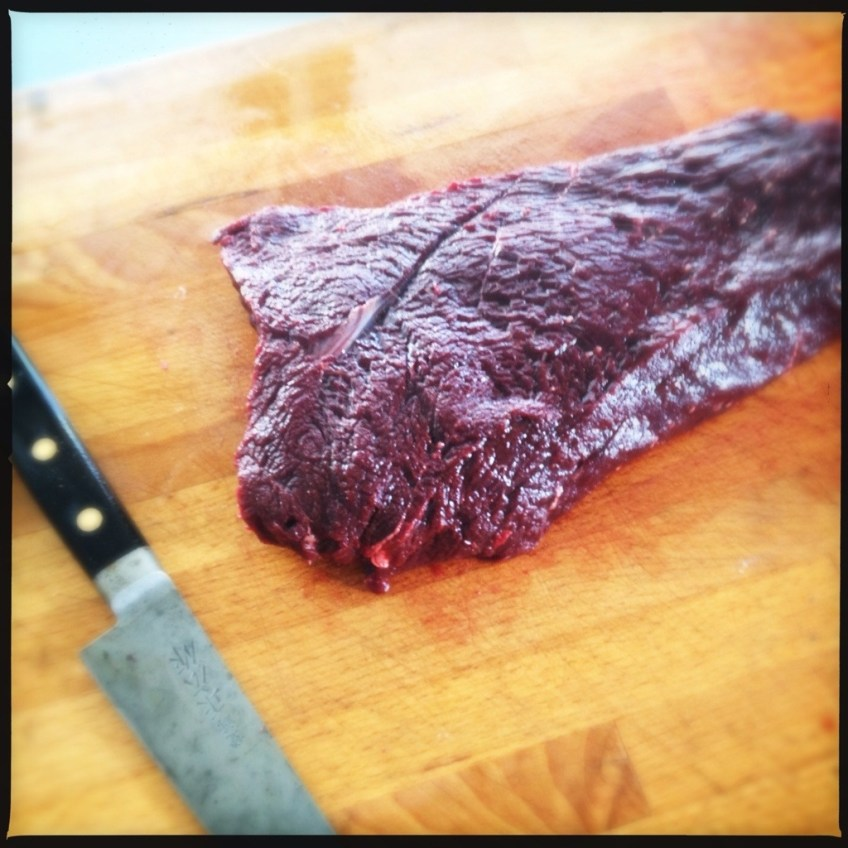 Mink Whale on a chopping board