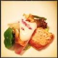 Pan fried plaice, sunchokes, faroese scallops, baked garlic