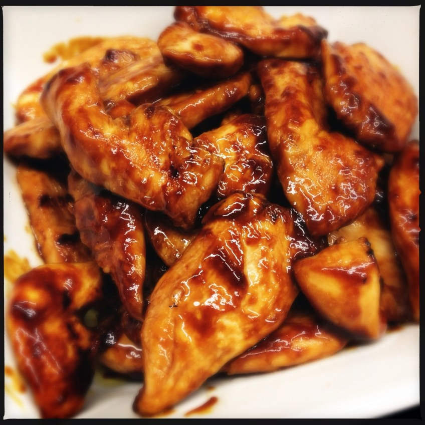 Fried teriaky chicken breasts