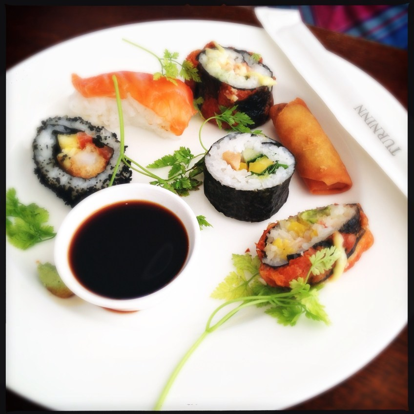 sushi and springroll