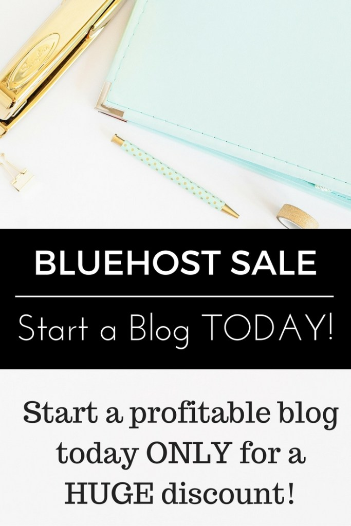 Bluehost SALE! Have you been contemplating starting a blog? If so, today's is your chance to save money and get going! I've been blogging just under two years and am bringing in a part-time income for very few hours each month! Start a blog TODAY ONLY for just $2.95/month through my link!