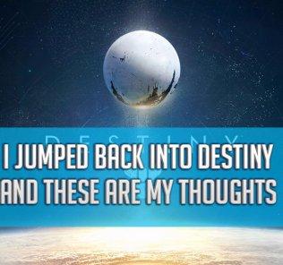 I Jumped Back Into...