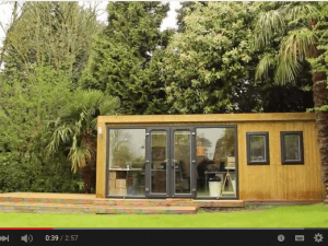 Running a business from a garden office