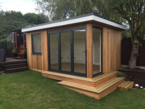 Making a feature of a garden room on a sloping site-4
