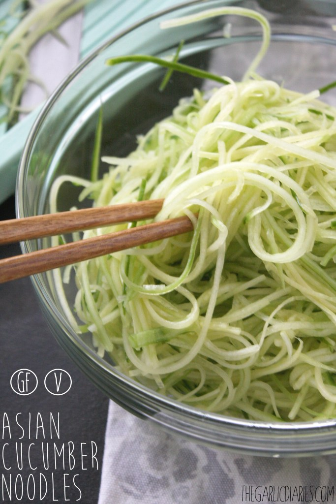 Asian Cucumber Noodles -- TheGarlicDiaries.com
