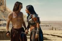 Taylor Kitsch and Lynn Collins in Disney's John Carter