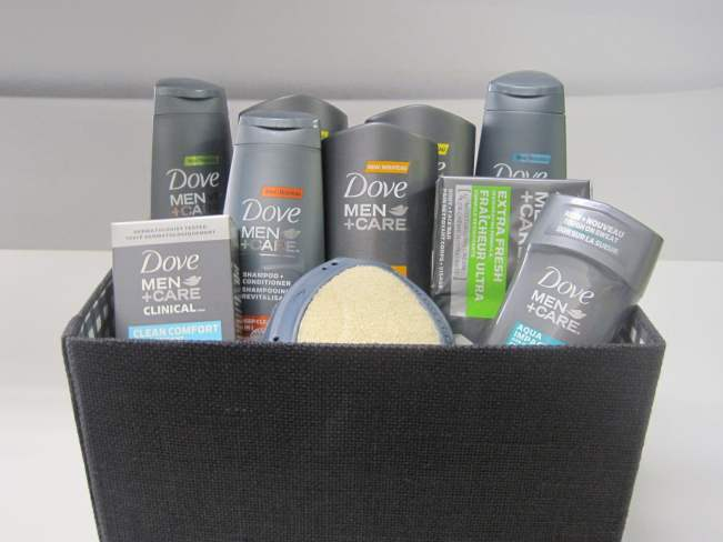 Dove Men+Care gift basket