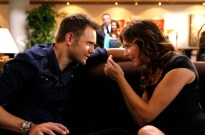 Joel McHale and Tricia Helfer in Community