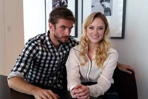 The Guest - Dan Stevens and Maika Monroe