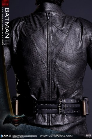 Batman Leather Motorcycle Suit by UD Replicas - Back
