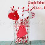 Valentine's Day Straw Flags-Hero
