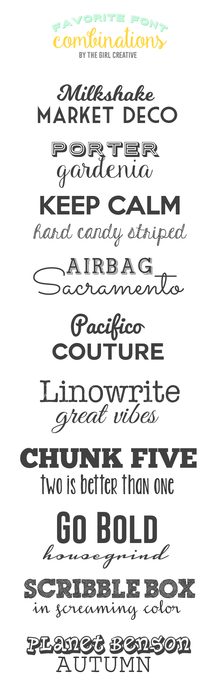 Favorite Font Combinations Fonts Fonts And More Fonts This Is A