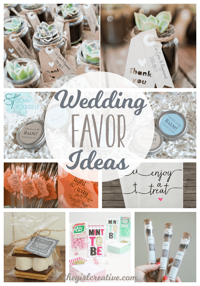 Wedding Favours Ideas 2015 : Wedding Favor Ideas for a DIY wedding or a wedding on a budget. These ...