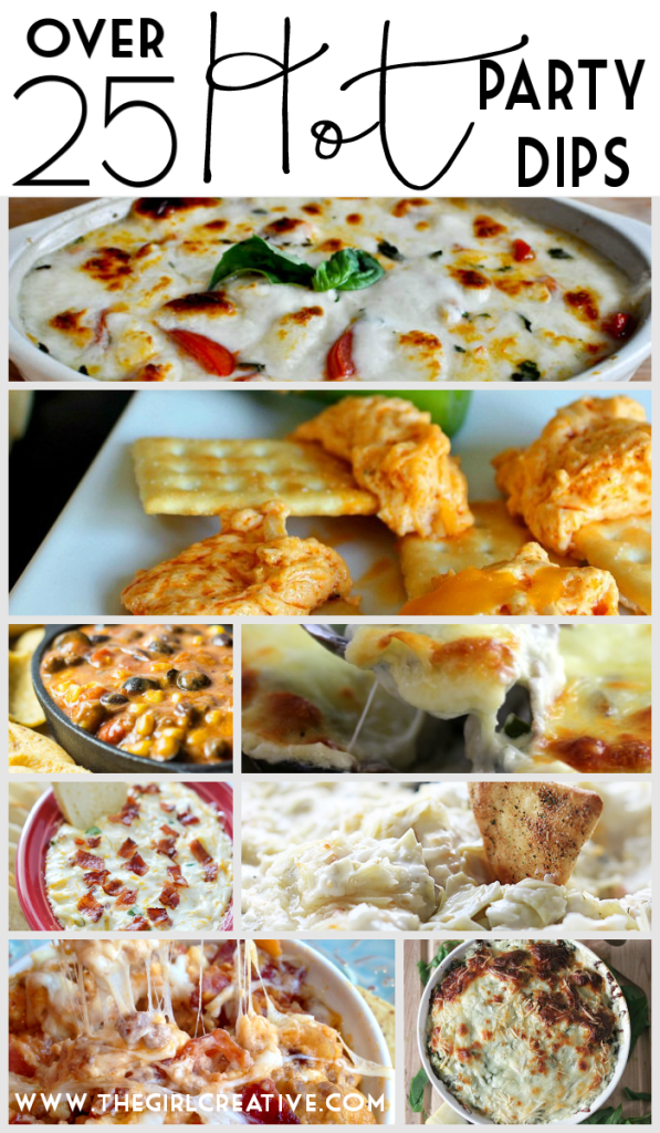 Over 25 delicious hot party dips!