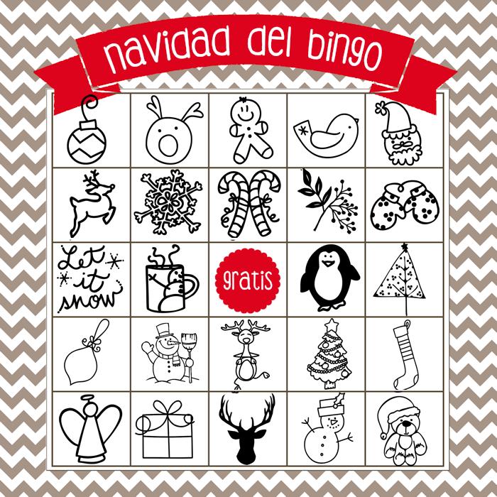 Christmas Bingo Board 4 - Spanish