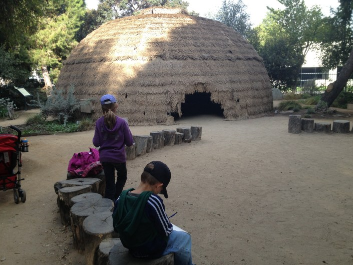 Outside Tongva Hut