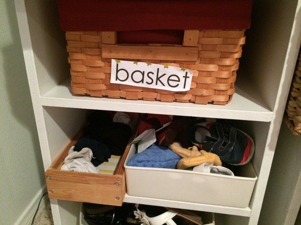 house label basket