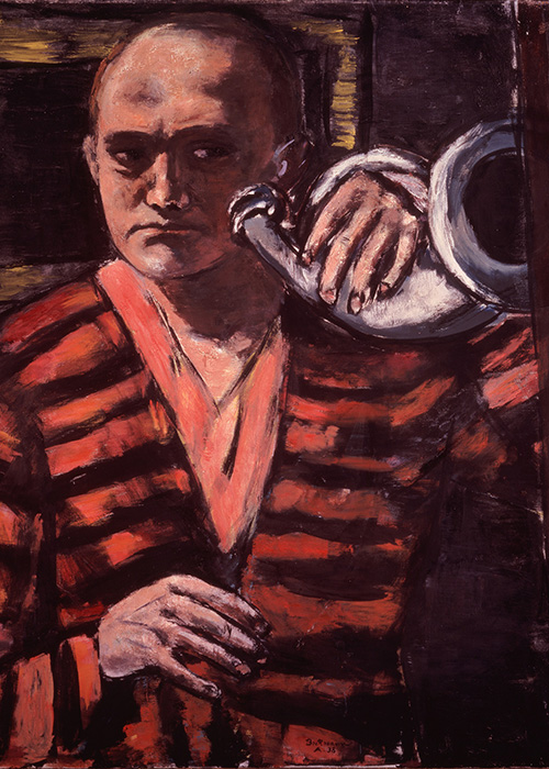 Max Beckmann in New York Beckmann Self portrait with Horn Neue Galerie New York and Private Collection
