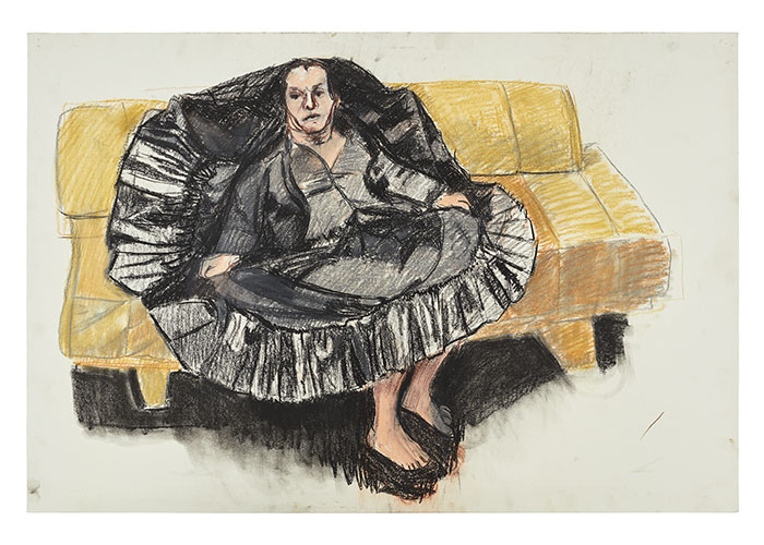 story picture Paula Rego, Depression Series, One, 2007, pastel on paper, 68.5 x 101 cm,