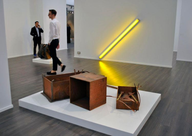 Dan Flavin's first neon tube from 1963 at David Zwimmer Gallery