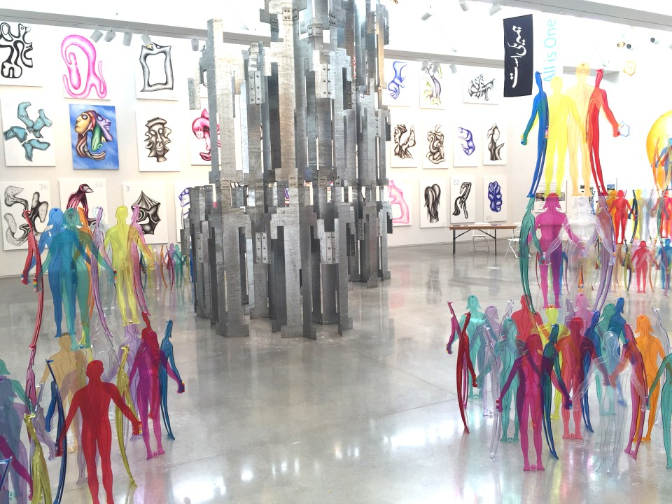 The Jonathan Borofsky exhibition on now at CMCA