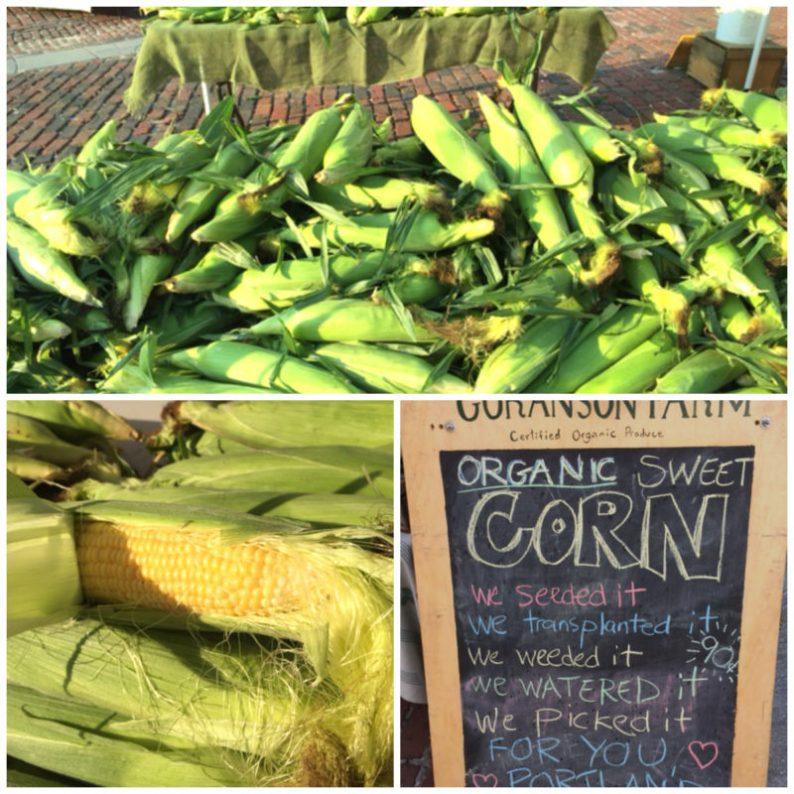 Corn at the Portland Farmer's Market