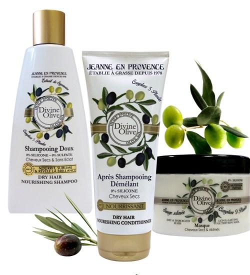 Jeanne en Provence Divine Olive para el cuidado del cabello TheGoldenStyle