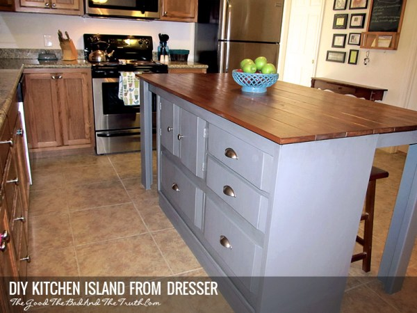 Diy Kitchen Island From A Dresser The Good The Bad And