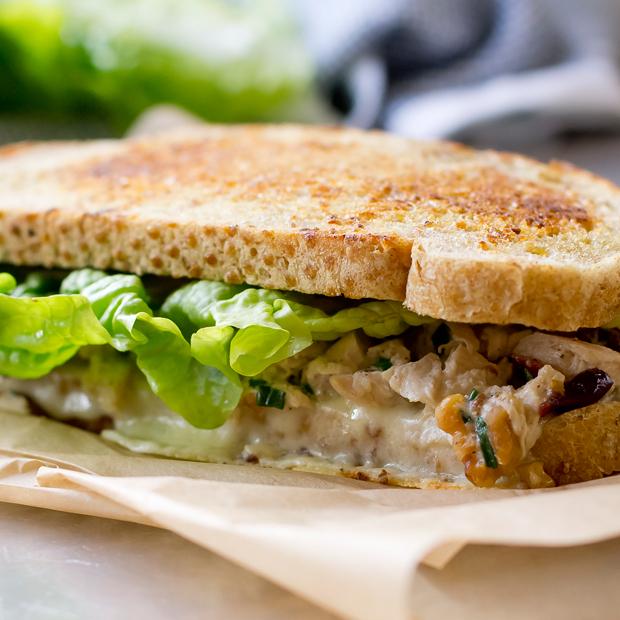 Cranberry Walnut Chicken Salad Sandwiches - The Gourmet Gourmand