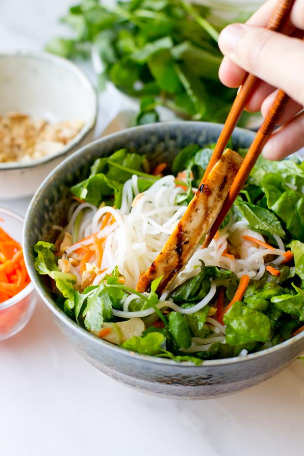 Vietnamese Chicken Vermicelli SaladThe Gourmet Gourmand