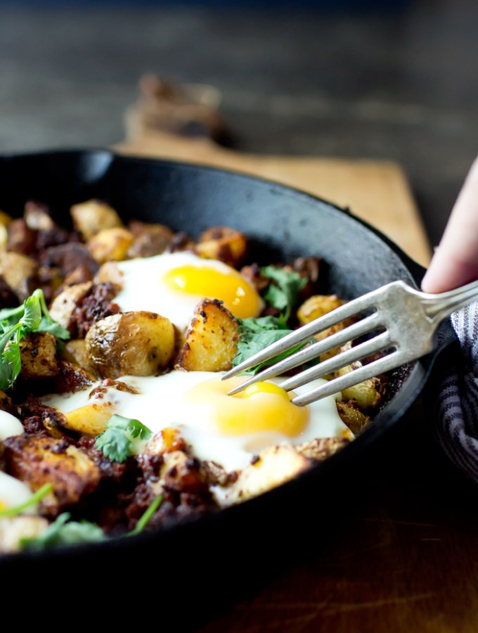 Potato Chorizo Hash from Sweet Phi's Cookbook (and a Giveaway!)