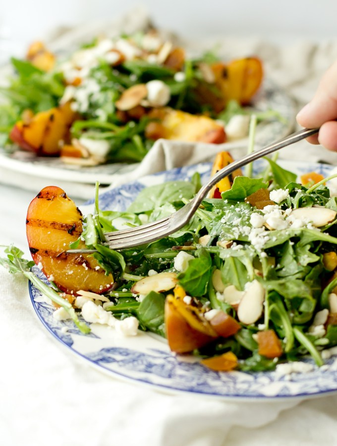 Arugula Salad with Grilled Red Plums