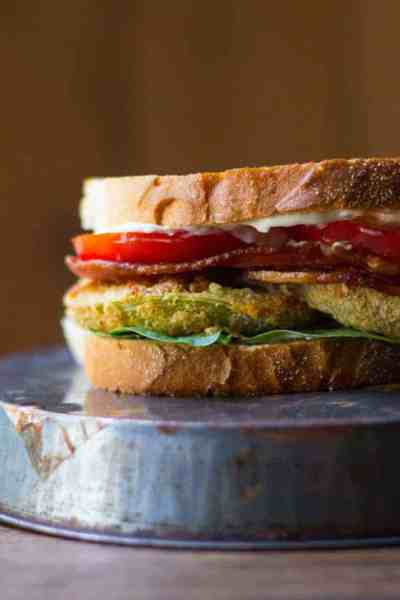 'Fried' Green Tomato BLTs
