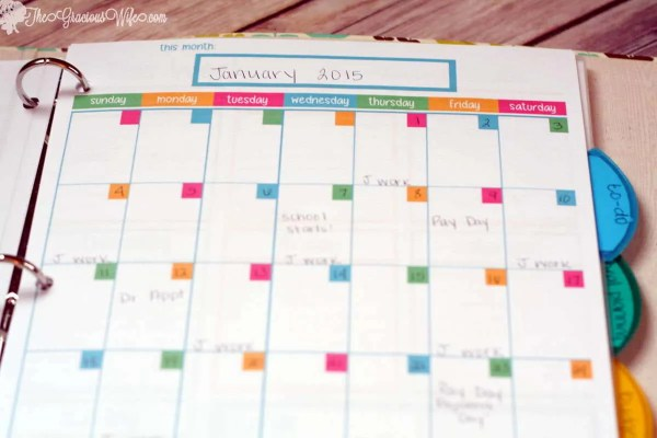 Diy Calendar Binding : Home management binder free printables the gracious wife