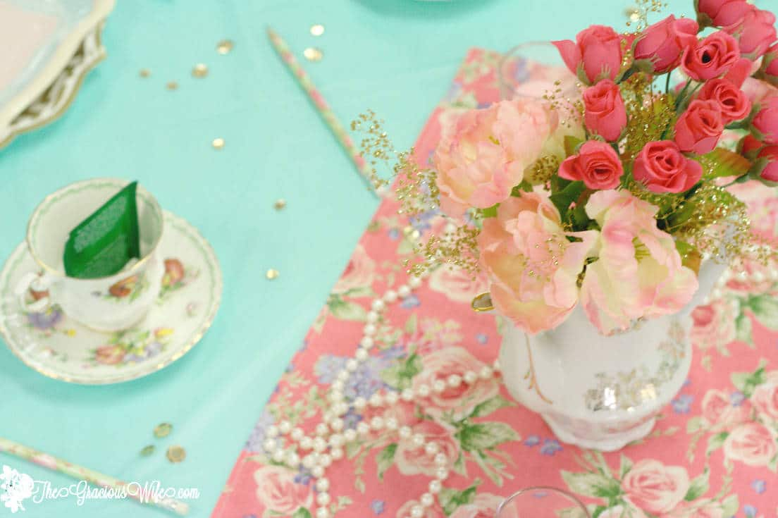 Tea Party Bridal Shower Ideas for an elegant and beautiful bridal shower tea party. #BridalShower #WeddingShower #Wedding #TeaParty #PartyIdeas #Wedding From TheGraciousWife.com
